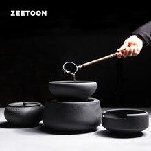 Zen Japanese Tea Spoon Kung Fu Tea Set Volcanic Rock Cook Tea Bowl Electronic Stove Puer Black Tea Maker Teapot Healthy Heater