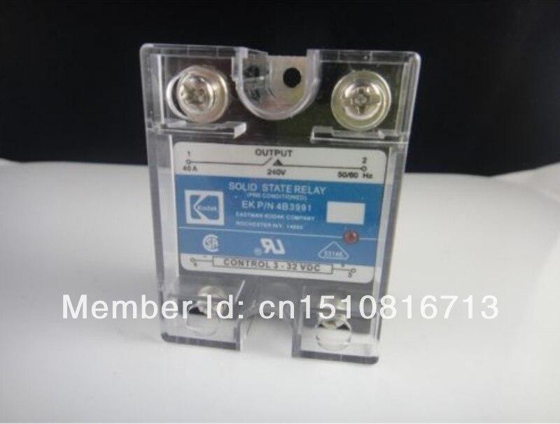 5 piezas 40A SSR, entrada 3-32VDC salida 240VAC relé de estado sólido de fase única