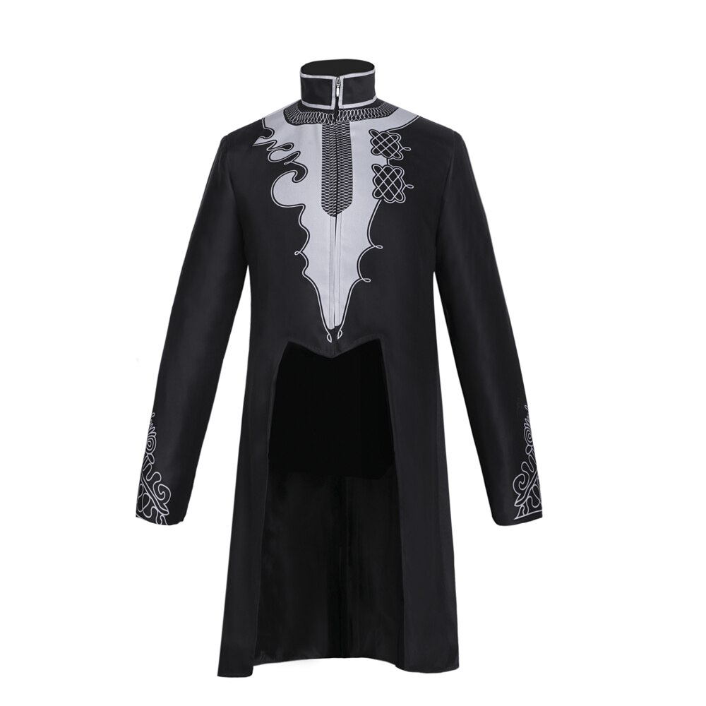 Pantera negra traje tailcoat homem halloween cosplay tchallchalla dc cosplay wakanda rei anime filme jaqueta