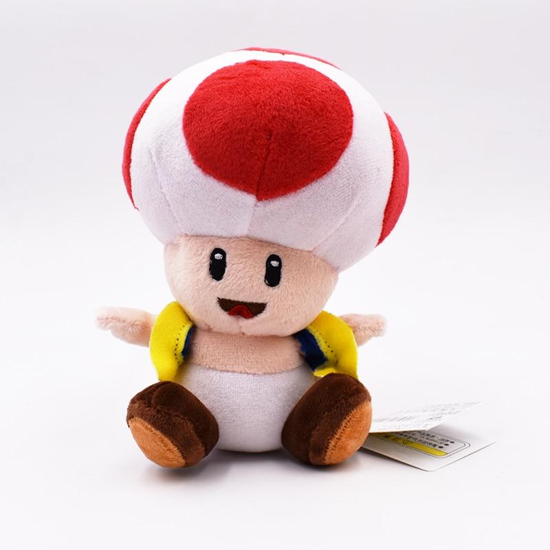2017 Free Shipping Hot Sales Brand Super Mario Bros Toad Plush Stuffed Dolls Plush Toys 16CM Plush Toys Figures Toy