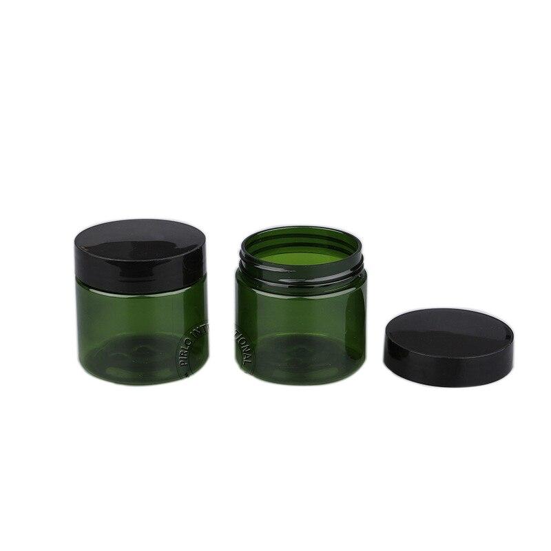 Contêiner vazio para maquiagem 30 peças, 50g, verde, cosméticos, recipientes, frascos, caixa de jarra para arte de unhas, armazenamentos de miçangas, creme de maquiagem, bálsamo recipientes
