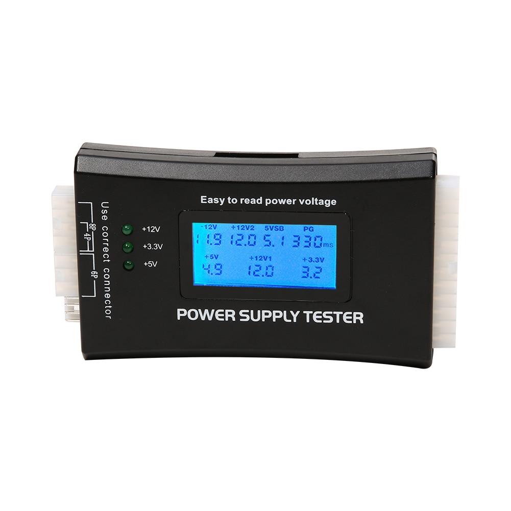 Цифровой Тестер питания с ЖК-дисплеем для компьютера, 20/24 Pin, Быстрый тестер мощности с поддержкой 4/8/24/ATX 20 Pin интерфейса