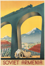 Armenië industrie Railway Landschap Sovjet Reizen USSR Vintage Retro Canvas Schilderij Frame DIY Muur Home Posters Home Decor Gift