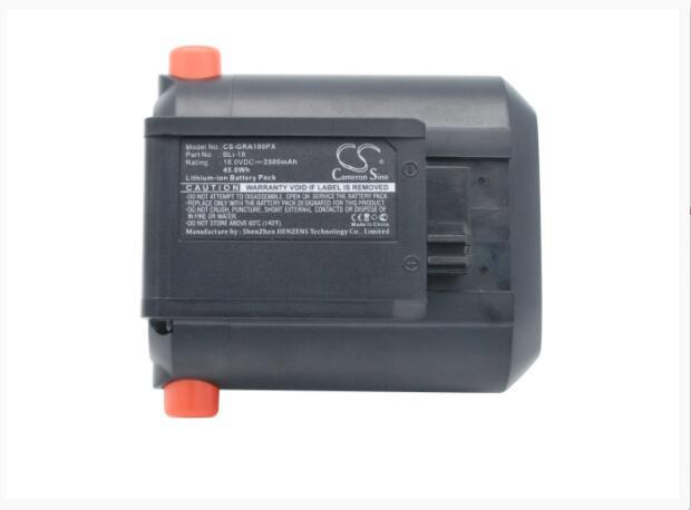 Аккумулятор Cameron Sino 2500 мАч для Гардена 881 8866 8877 9335 9823 9824 9825 9839-20 Акку триммер для изгороди EasyCut Li-18/50