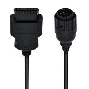 Image 5 - Для BMW ICOM D кабель ICOM D мотоциклы 10 Pin адаптер 10Pin для 16Pin OBD2 OBDII диагностический кабель