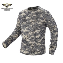 2020 nouveau Camouflage militaire tactique T-shirt hommes respirant séchage rapide armée américaine Combat manches complètes Outwear T-shirt pour hommes S-3XL