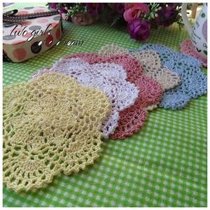 DIY Handmade Crochet Placemat Retro Hotel Dinner Decor Coaster Flower Clothes Accessory 14CM  Table Lace Doily Cup Pad 30pcs/lot
