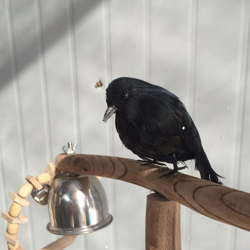 Pequeña Nueva simulación crow de juguete de plástico y pieles negro crow modelo muñeca regalo alrededor de 13 cm 0897