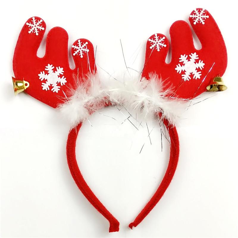 12 piezas bonito Reno con plumas Antlers diadema fiesta Fancy vestido sombrero...