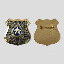 Qualité Zootopia lapin Judy Hopps alliage métal Police Badge Cosplay accessoires broche cosplay épingle accessoires halloween cadeau