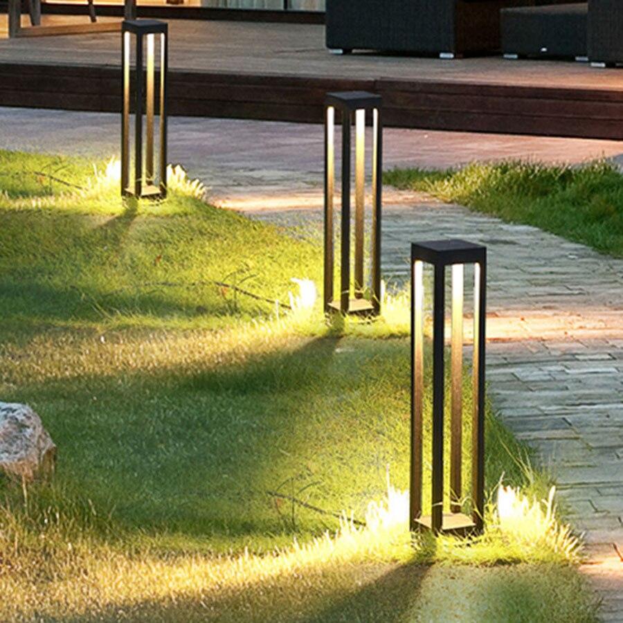 Thrisdar Outdoor Wasserdicht Rasen Lampe Moderne Einfache Garten Landschaft Säule licht Pathway landschaft Villa Garten Poller Licht