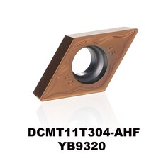 DCMT11T304-AHF YB9320 voor rvs P type materiaal carbide draaiwisselplaten cnc plaat DCMT11T304 DCMT 11T304 DCMT3 (2.5) 1