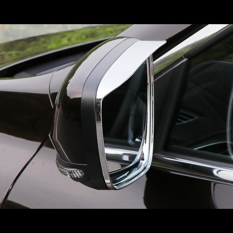 Para Renault Kadjar 2015 2016 2017 2018 espejo retrovisor para coche bloqueo lluvia ceja embellecedores vista trasera pegatina elegante para el coche 2 uds