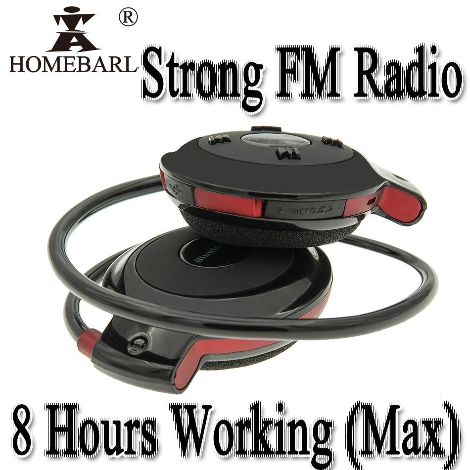 8 Hours Work Strong FM Radio 503 Bluetooth 4.0 Headset Mini 503 Sport Wireless Headphones Earphone + 64GB 32GB 16GB 8GB TF Card