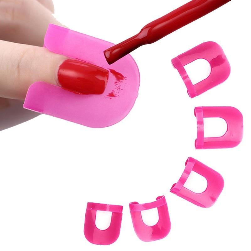 1 caja/26 Uds equipo de Arte de uñas Gel modelo Clip pegamento de esmalte de uñas Anti-desbordamiento previene el arte de uñas decoraciones HERRAMIENTA DE MANICURA