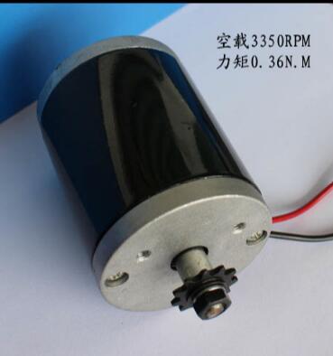 Motor de corriente continua de 12V, 100W, escúter positivo y inverso, motor DC de reajuste