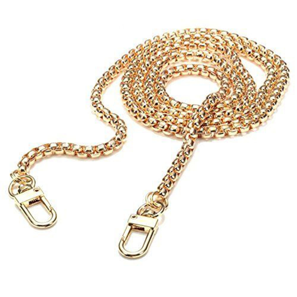 1PC Fashion Skinny Metal Cross Body Bag Chain Strap Purse Handbag Shoulder Bag Chain Replacement 120 cm High Grade