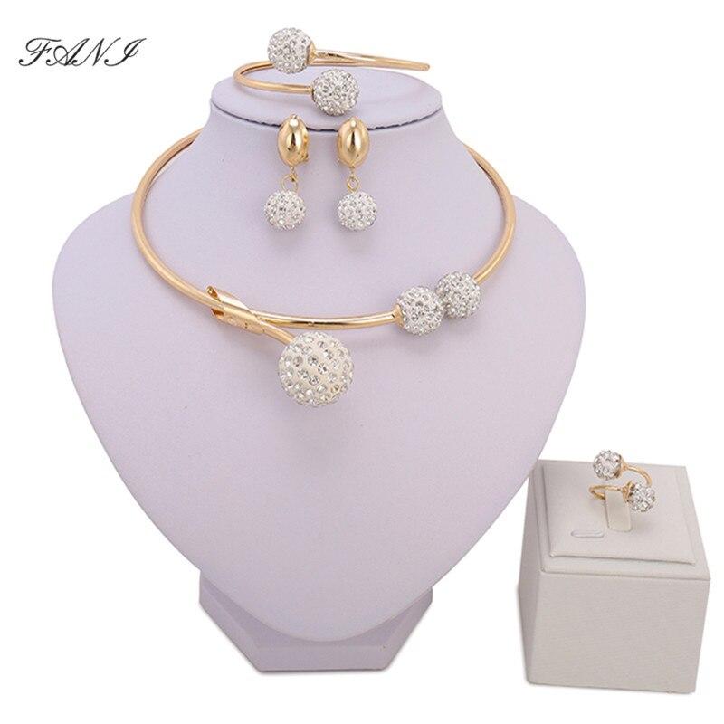 Moda africano conjuntos de jóias marca dubai ouro-cor cristal conjuntos de jóias por atacado acessórios de noiva nigeriano jóias de casamento