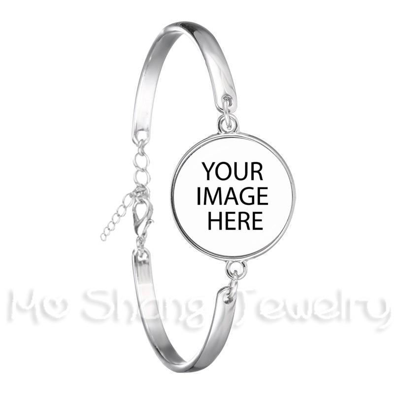 Индивидуальные пользовательские браслеты, фото, мама, папа, дети, дедушка, родители, индивидуальный дизайн, фото, подарок для семьи, Подарок ...