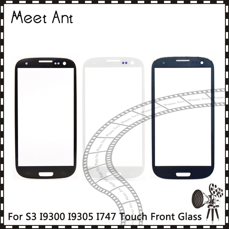 10 unids/lote para Samsung Galaxy S1 I9000 S2 I9100 I9105 S3 I9300 I9305 I747 S3 Mini I8190 frente de Lentes de vidrio exterior Panel de pantalla táctil