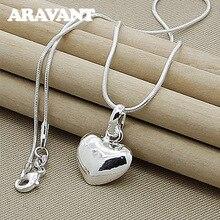 Collier pendentif cœur en argent 925, chaîne pour femmes et filles, bijoux en argent