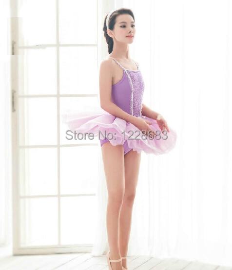 Envío Gratis, vestido de Ballet amarillo azul lavanda blanca para niñas, vestido de bailarina, tutú de ensayo profesional para niños