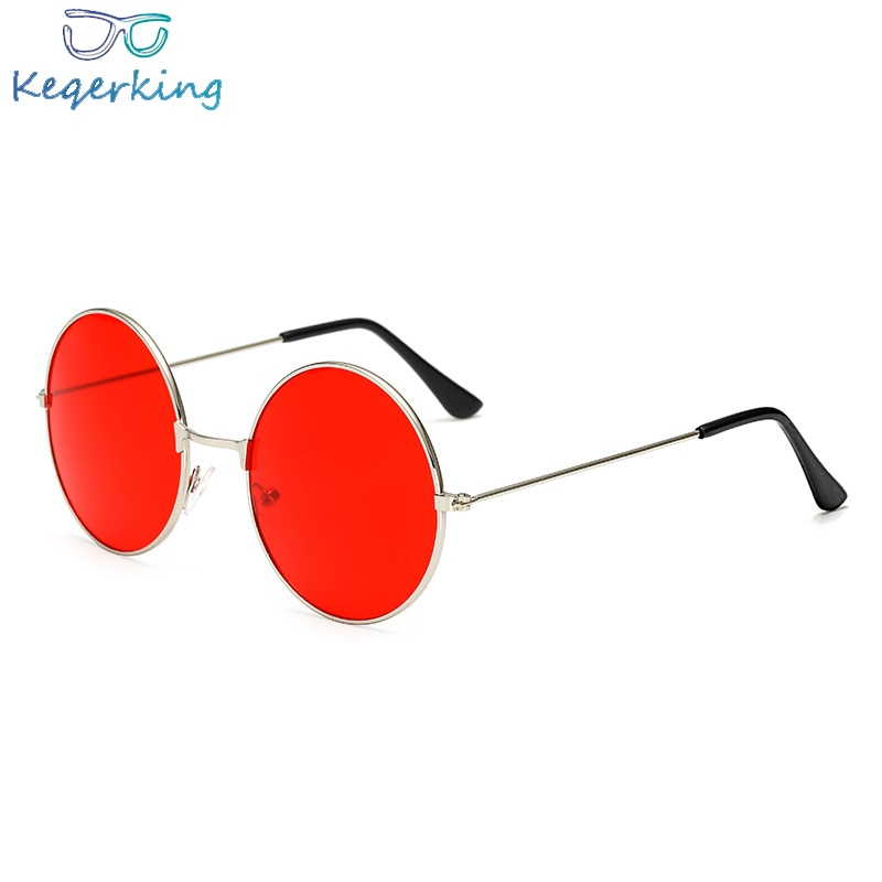 2018 Burst metal circular fashion marine lenses red sunglasses men and women personality Prince Mirr