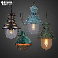 Industrial Pendant Light Loft Vintage light Dining-room Restaurant Hanglamp Iron Suspension Luminaire Black/Gold E27