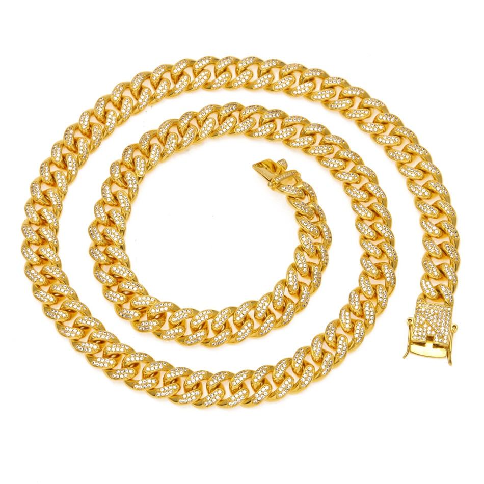 Uwin 13mm Miami 925 sterling farbe Farbe Zirkon Cuban Link Halskette CZ Verschluss Iced Out Hip hop Kette Männer halskette 18 zoll 20 zoll