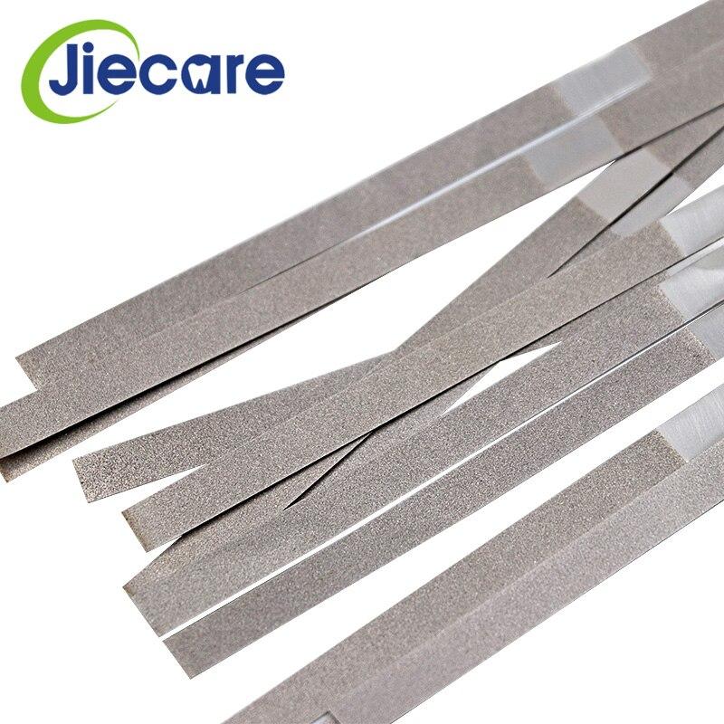 12 unids/caja Dental palo de Pulido de metales tira de un solo lado de diamante superficie de lijado ortodóntica IPR tiras abrasivas de diamante