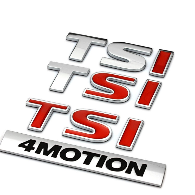 OEM хромированная Автомобильная эмблема TSI/4 движения Металлическая Автомобильная наклейка подходит для VW GOLF TIGUAN PASSAT JETTA BEETLE TOURAN CC