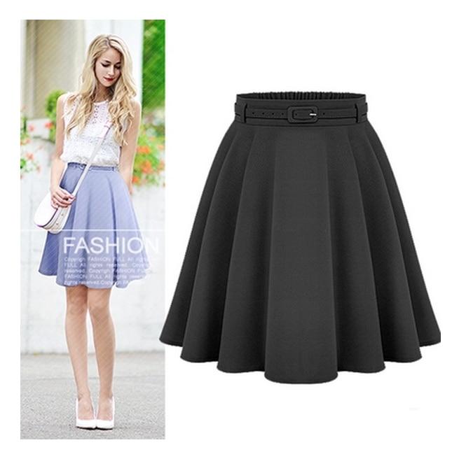 Женские повседневные юбки средней длины до колена, стильные женские бальные юбки в стиле ретро с высокой талией, Женская винтажная длинная ...