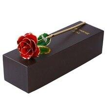 Cadeau de la saint valentin   Rose plaqué or 24k, avec boîte demballage à offrir, pour cadeau danniversaire, de fête des mères