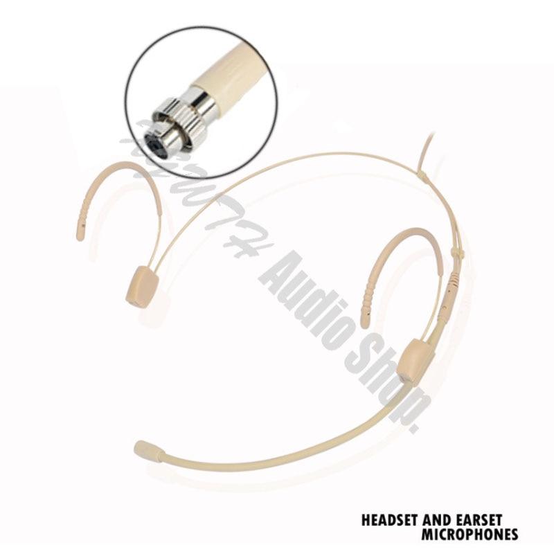 Auriculares de gancho dobles profesionales micrófono para auriculares con cabeza para sistema con micrófono inalámbrico MiPro