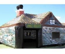 نفخ الأيرلندية حانة خيمة نفخ خيمة أعمدة ، في الهواء الطلق خيمة الحديقة قابلة للنفخ تأتي مع منفاخ الهواء