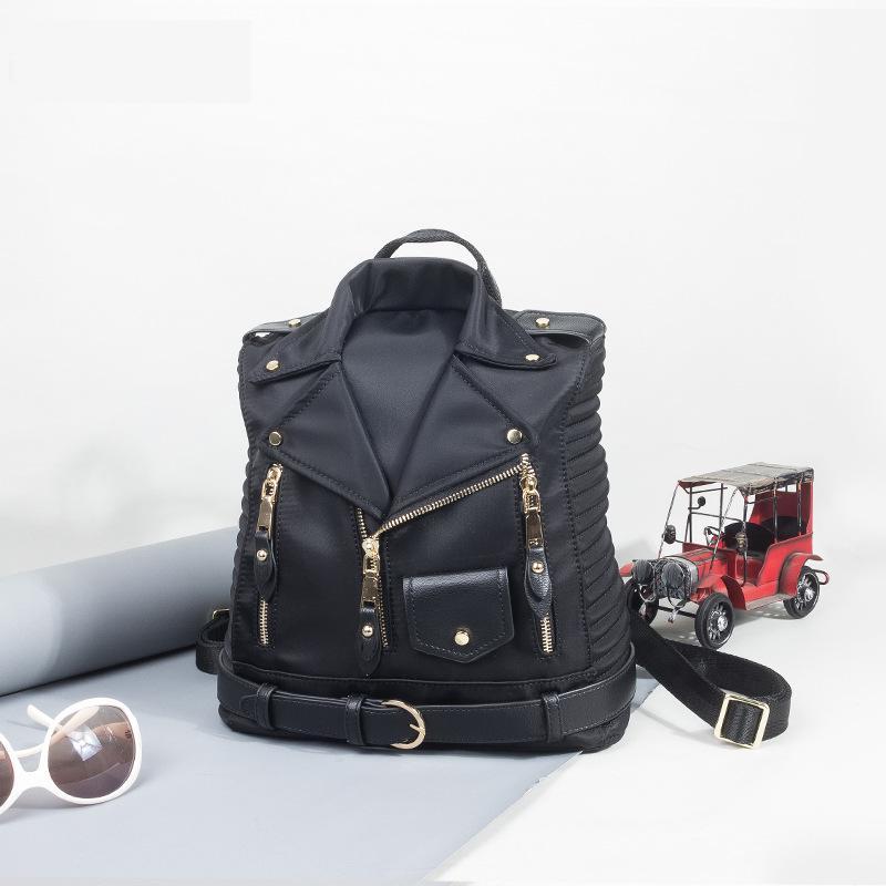 New Oxford Waterproof Jacket Bag Personality Black Rock Large Capacity Anti-theft Backpack Unisex Travel Shoulder Bag So Cool