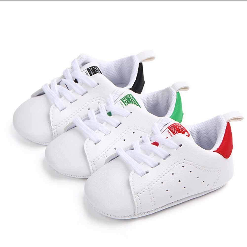 Emmamaby primavera y otoño niño pequeño bebé niña suela suave zapatillas de deporte cuna recién nacido a 18 meses