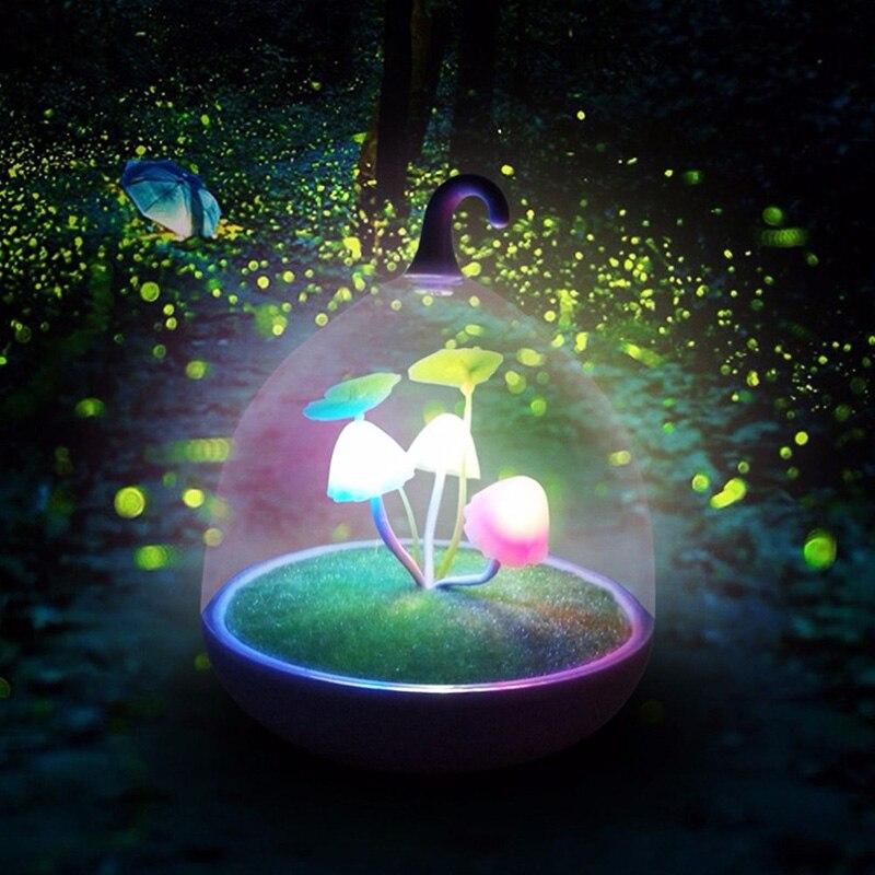 Красочные светодиодные ночные светильники с сенсором гриба, ночные лампы для спальни, настольные лампы, подарки для детей, украшение для ро...
