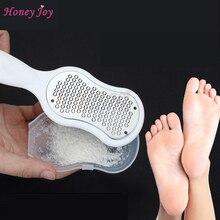 Soyeux Glide Pro callosités décapant inox Micro-lime avec capuchon en plastique pied râpe grossière Fine côtés plat pédicure pieds soin outil