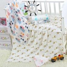Mantas de algodón de bambú para bebé recién nacido, mantas de muselina de bambú, 17 colores, 120x120cm