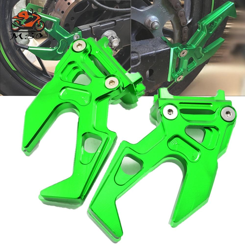 Accesorio de Moto Ninja 300, tensor de Ajustador de cadena CNC, regulador de cadena de motocicleta, tensor de cadena de coche de Moto para kawasaki ninja300