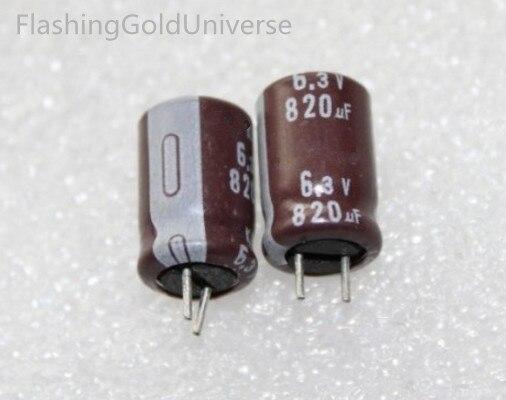 Envío Gratis 6,3v820uf 820UF 6,3 V Tamaño del condensador electrolítico 8X12 mejor calidad nuevo origen