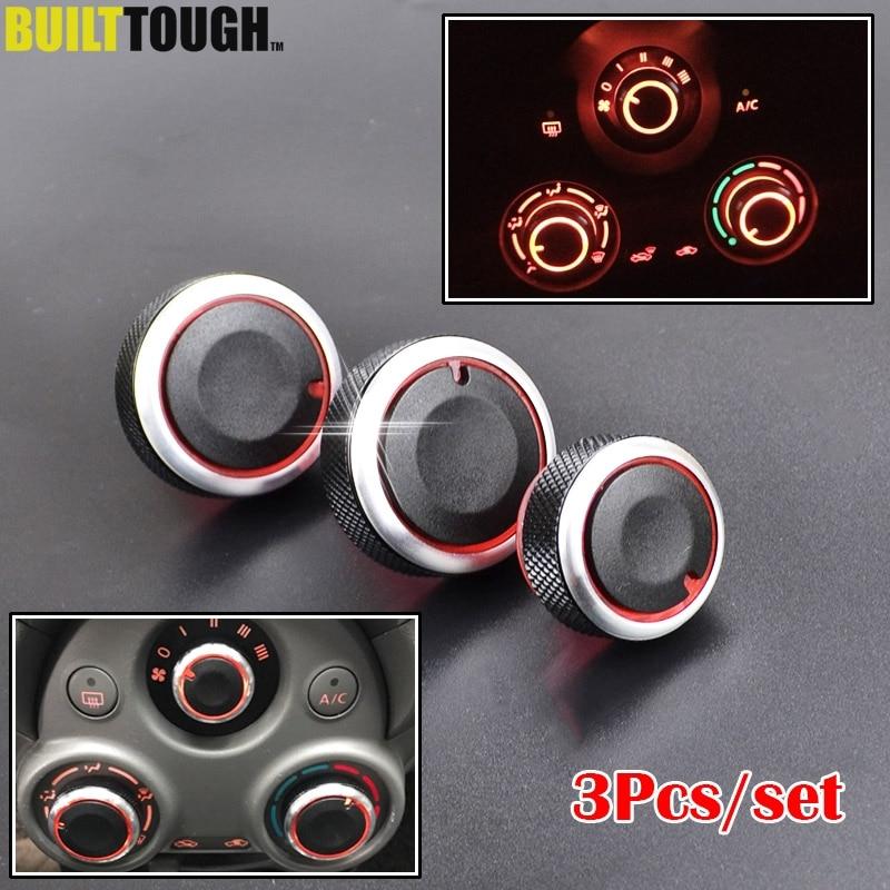 Para Nissan Sunny N17 March K13 calentador de aire acondicionado perilla de Control de aire botones de cambio con botones diales