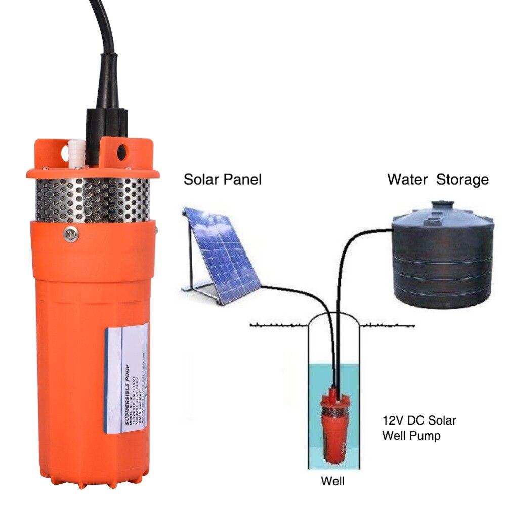 1/2 zoll Energie Solar 12V Tauch DC Pumpe Tiefbrunnen Wasser Alternative Pumpen Verwendet in Outdoor Fern Wasser Betrieb werkzeug