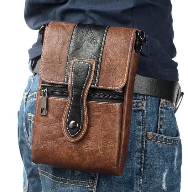 Мужской кожаный чехол на ремне Gionee Marathon M5 Plus/M5 enjoy, S6/S6 Pro/S8/Elife S Plus/M6 PLUS