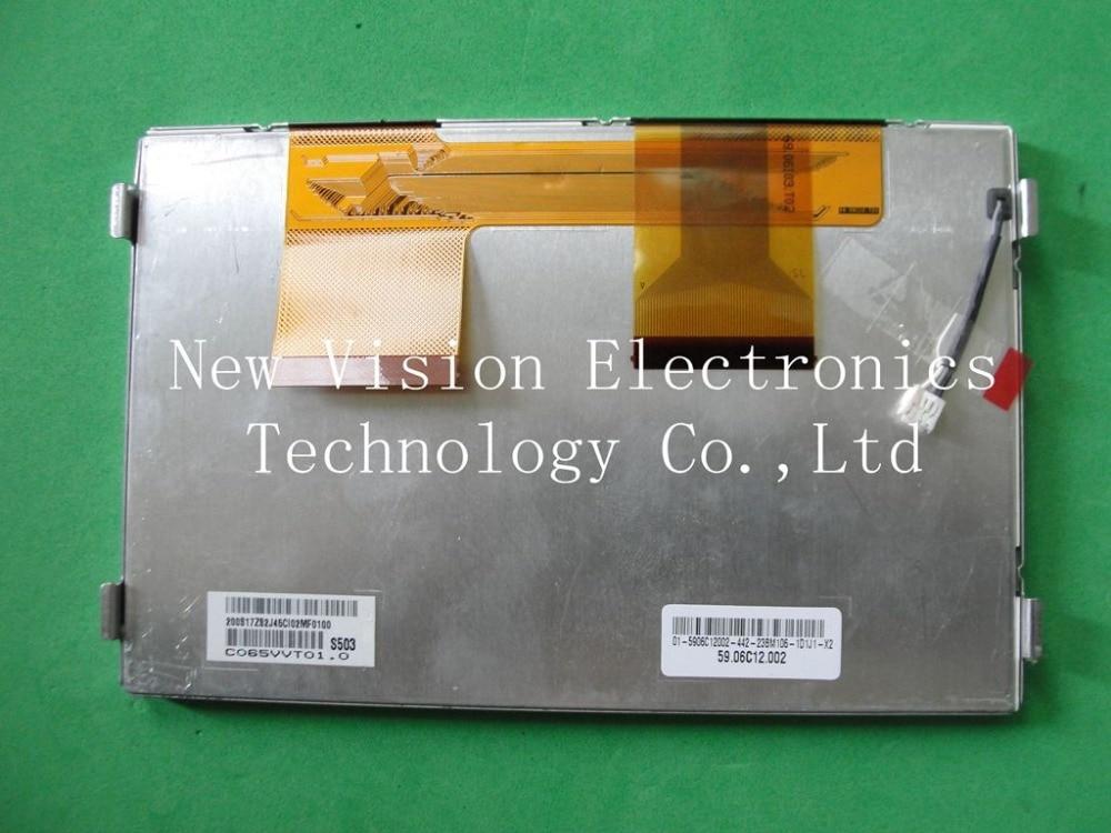 C065VVT01 C065VVT01.0 Original pantalla LCD TFT de 6,5 pulgadas sistema de navegación GPS para coche