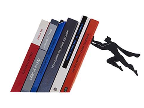 Nuevo creativo Batmen negro y Superman sujetalibros de metal estante de libros decoración del hogar utiliza imanes diseño Invisible