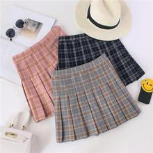 2020 New All Match Hot Women Fashion Skirts Plaid Cotton Skirt Korean Mini Skirt Student Style Summer Free Shipping