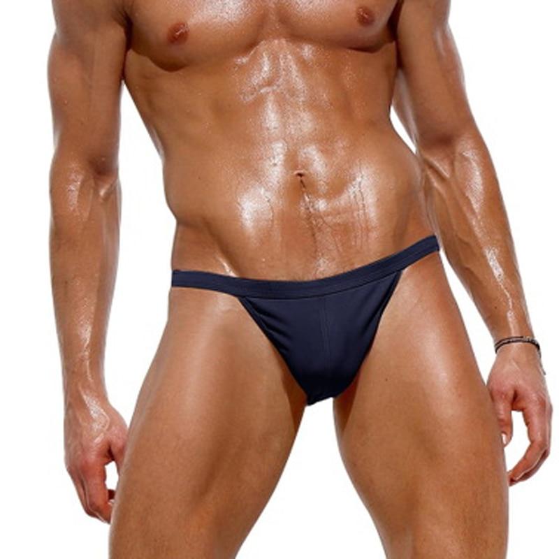 Marca masculina nadar tanga briefs sexy baixo aumento náilon dos homens roupa de banho biquíni breve dos homens natação surf elástico sunga g string maiôs