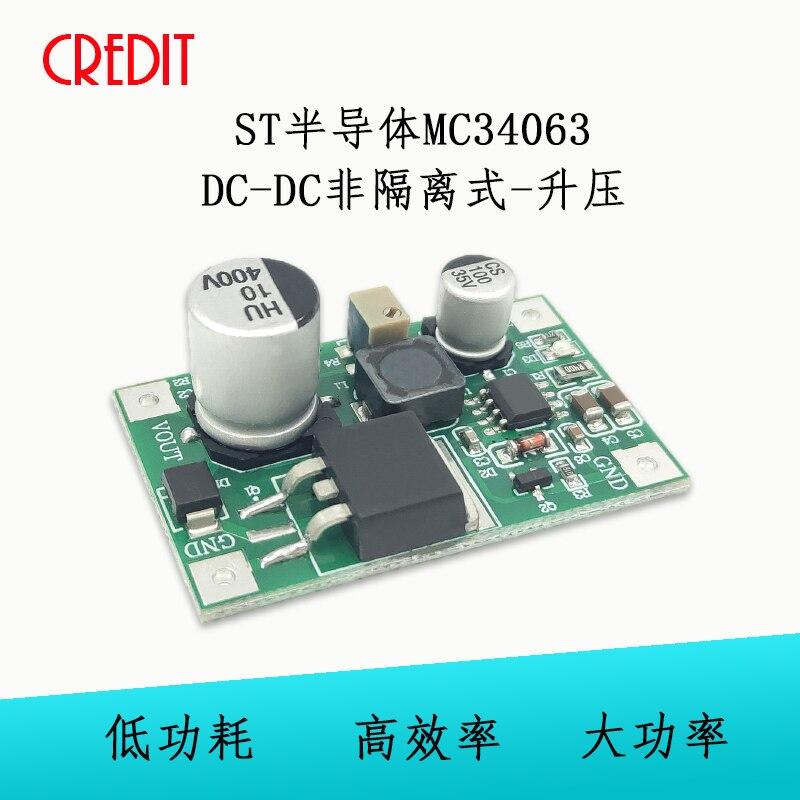 Módulo ST Semiconductor MC34063 módulo DC-DC no aislado Boost Glow Drive voltaje DC alto voltaje